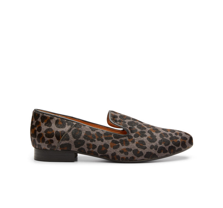 Marie leopard print loafer