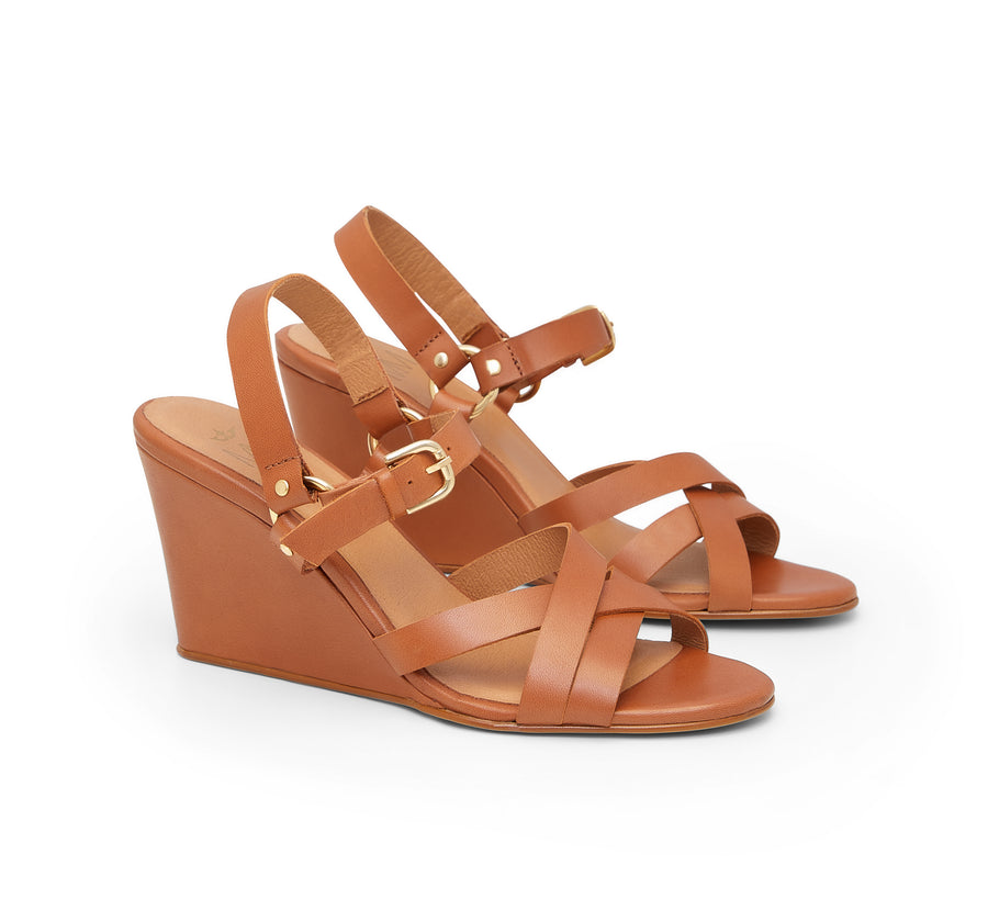 Biarritz Leather Wedge Sandal