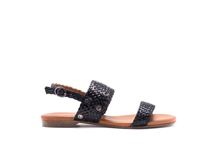 Cleopatra Woven Leather Sandal