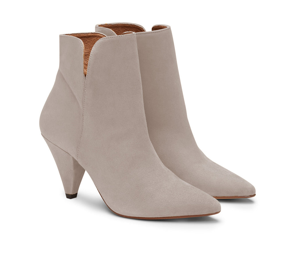 Gisela Suede Cone Heel Ankle Boot