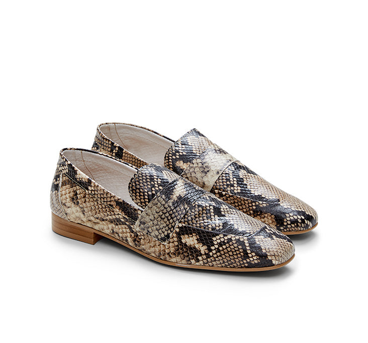 Kelly Snake Leather Loafer