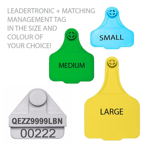 Leadertronic NLIS Cattle Tag & Matching Management Tag (SA Levy)