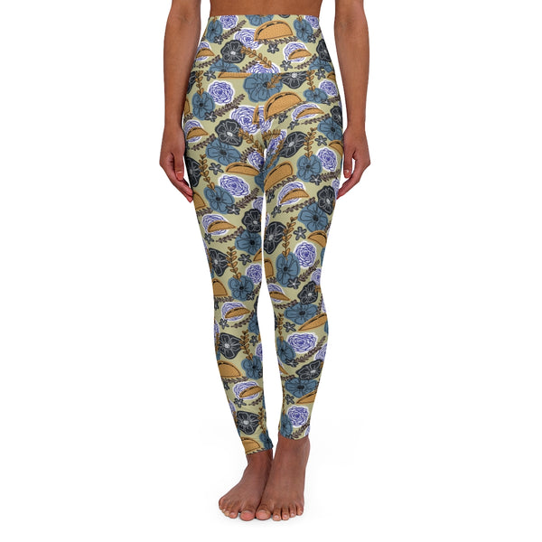 Floral Taco High Waisted Yoga Leggings