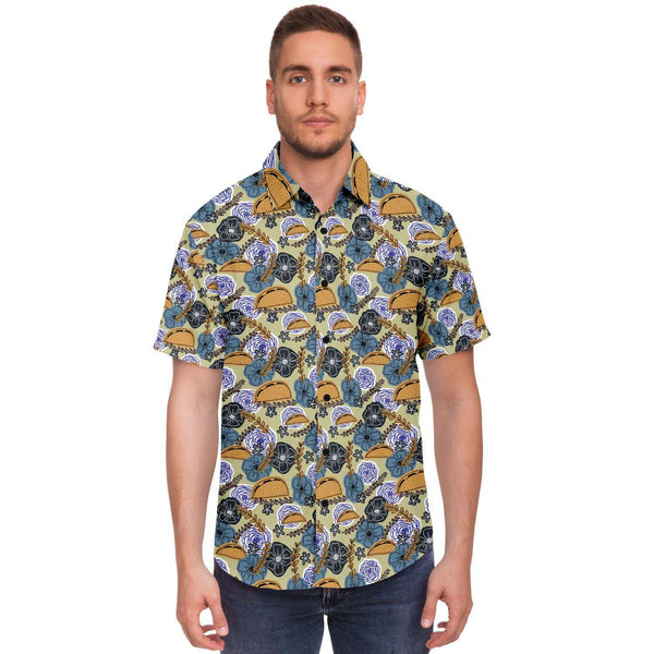 Floral Tacos Button-Up Shirt