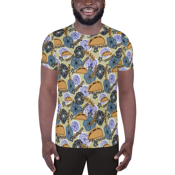 Floral Tacos Athletic Tee