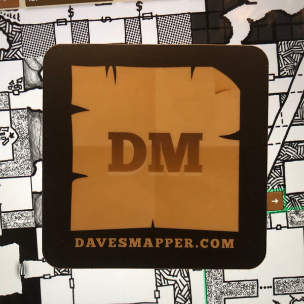 Dave's Mapper Big Sticker