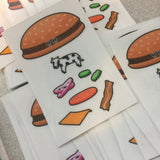 Burger UFO Stickers