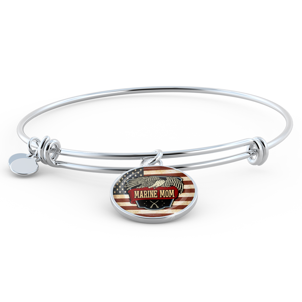 disc mom bracelets collections w bangles wrap products wire bangle dis on original engraved bracelet acrylic photo baseball