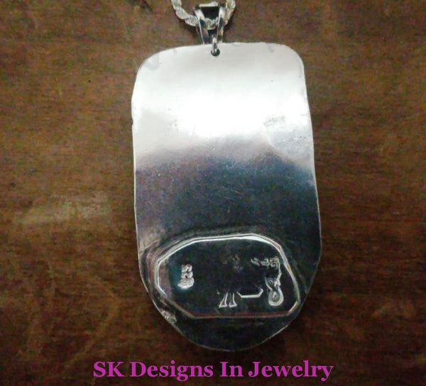 .925 Sterling Silver Garnet & Crazy Lace Pendant - Artisan One Of A Kind Ooak Pendants