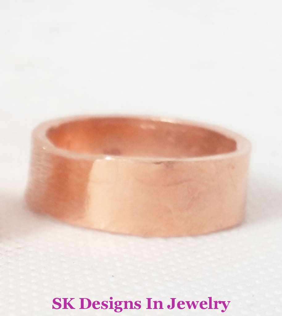 Copper Wedding Band Set Artisan Bands Handmade In The Usa Individual