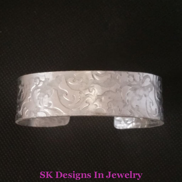 Cuff Bracelet Sterling Silver Artisan Handmade In The Usa