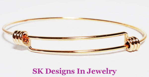 Designer Inspired Charm Bracelet / Best Quality Bangle Rose Gold Finish