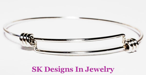 Designer Inspired Charm Bracelet / Best Quality Bangle Silver Finish