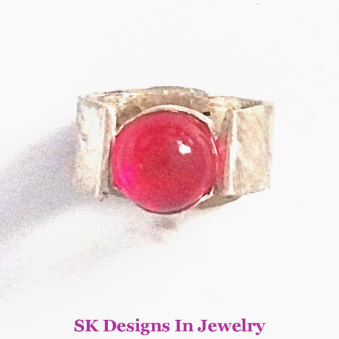 Girls Ring Baby Sterling Silver And Ruby Us Size 2 Jewelry