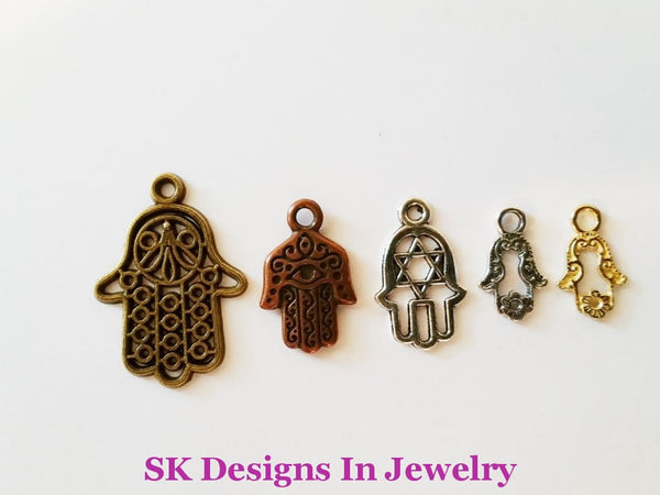 Hamsa Hand/fatima Hand Assorted Charms For Alex & Ani Inspired Charm Bracelet A Bracelets