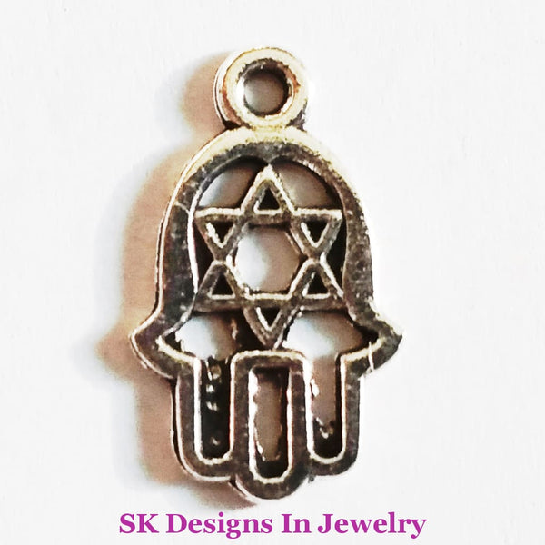 Hamsa Hand/fatima Hand Assorted Charms For Alex & Ani Inspired Charm Bracelet Star Of David A