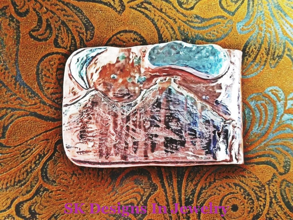 Handmade Money Clip - Copper & Sterling Silver Mixed Metals Mens Accessories Other Jewelry