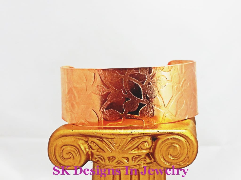 Petite Copper Cuff Bracelet - Fits Woman Teen Or Pre-Teen Bracelet