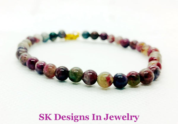 Tourmaline Bead Bracelet Excellent Quality 5-6Mms Made To Order