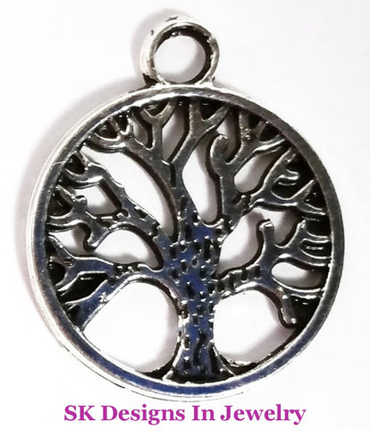 Tree Of Life Charm - Wear As A Pendant Or On Alex & Ani Inspired Bangle Charms For Bracelets