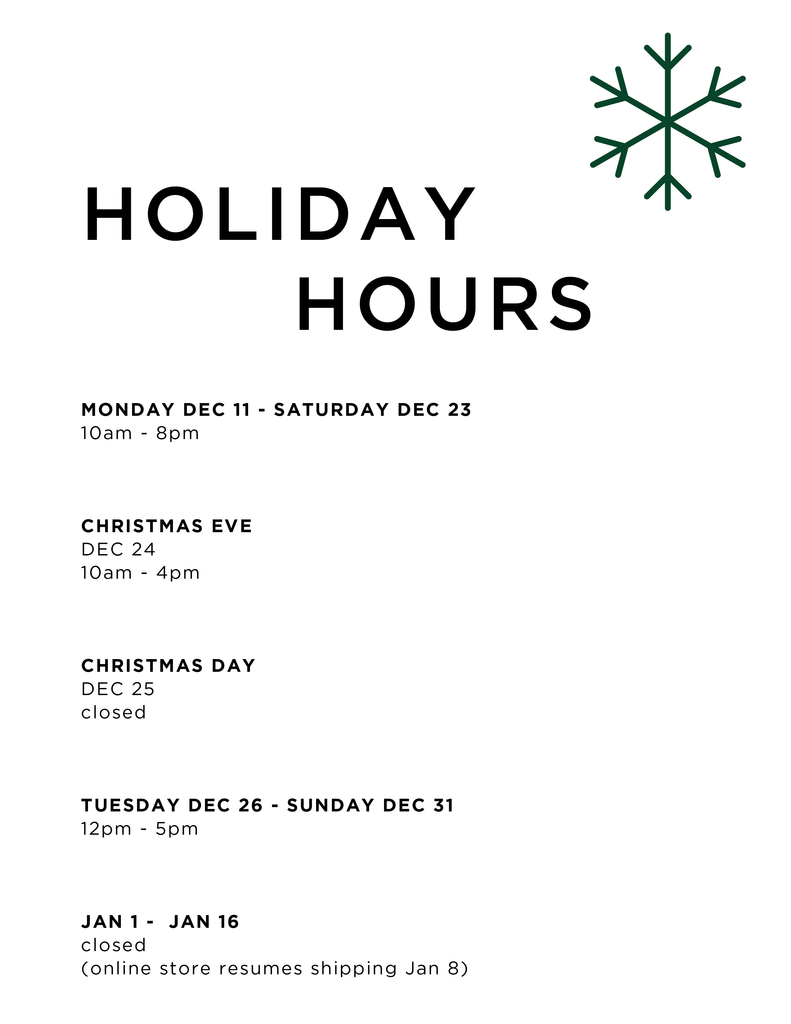 Port of Raleigh Holiday Hours. Come shop with us in Downtown Raleigh this season!