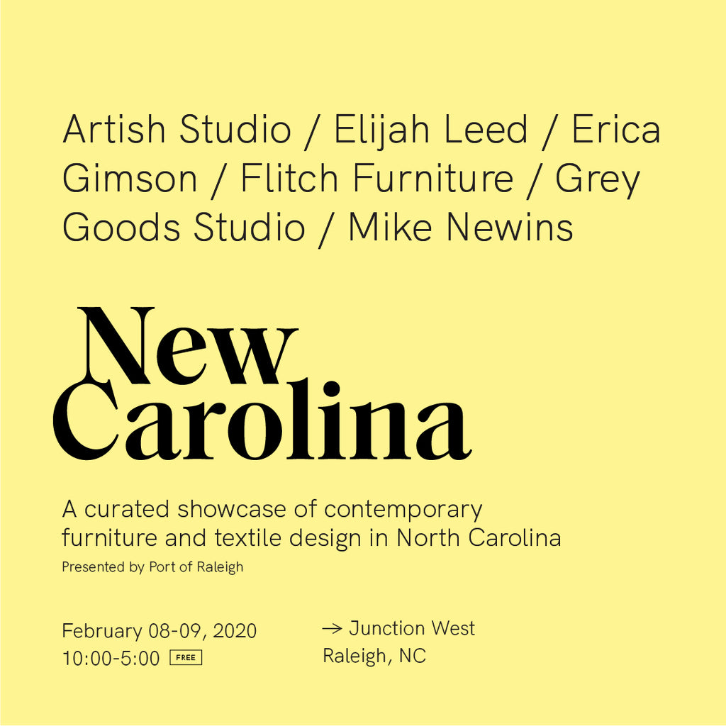 New Carolina, a curated showcase of contemporary furniture and textile design in North Carolina