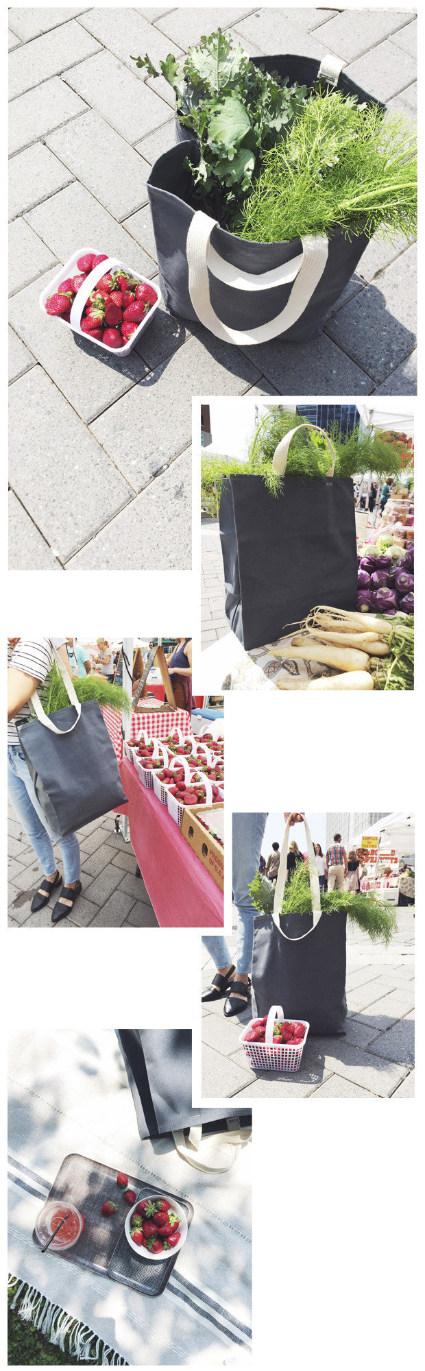 Waxed Canvas Tote Bags perfect for farmer's markets and everyday hauls