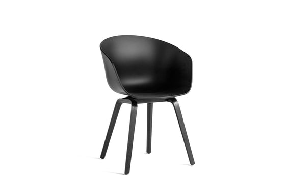 About A Chair 22 Armchair, Black Base