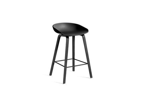 About A Stool 32 Counter Stool, Black Base