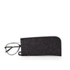 Merino felt wool eyeglass sleeve by Graf Lantz made in Los Angeles USA. 100% wool felt with leather pull tab. at Port of Raleigh