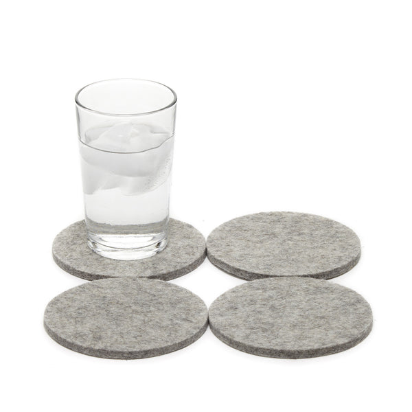 Made in USA fine grade merino wool felt coasters 4 pack by Graf Lantz Los Angeles for the modern home and tabletop at Port of Raleigh