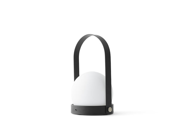Modern and minimalist Portable and Chargeable Carrie LED Lamp by Danish design studio Menu
