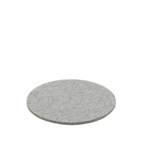Simple modern round merino wool felt trivet made in USA by Los Angeles-based Graf Lantz