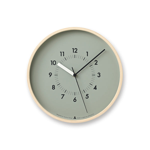 Soso Wall Clock, Grey at Port of Raleigh