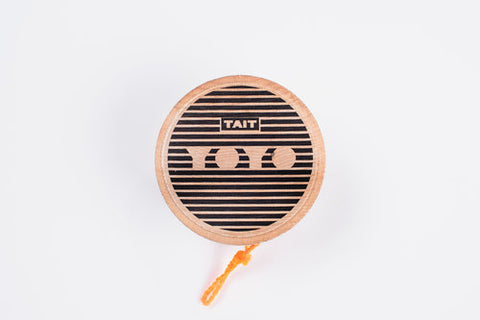 Sling-Slang YOYO is handcrafted from sustainably sourced maple wood and screen printed by hand, one at a time.
