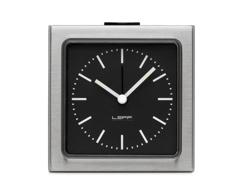 Block Clock, Stainless Steel