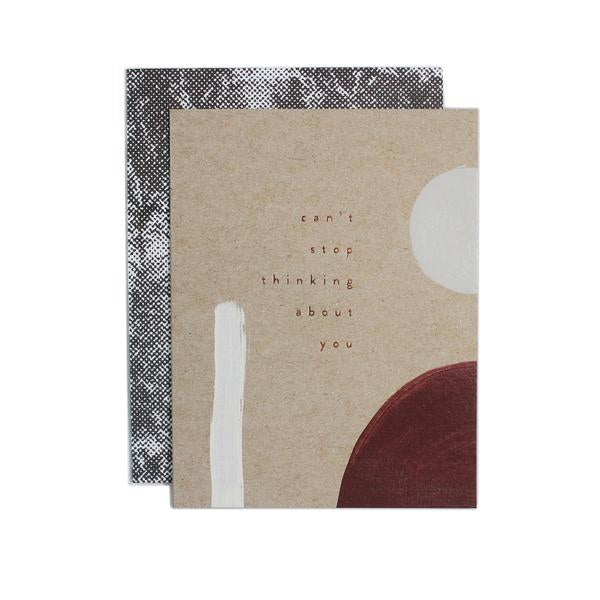 A lovely hand painted card with patterned envelope for the beloved ones in your life. Hand painted and foil pressed by Iowa based studio, Moglea. at Port of Raleigh