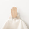 Minimalist simple modern White Ash Wood wall hook made in USA by Most Modest