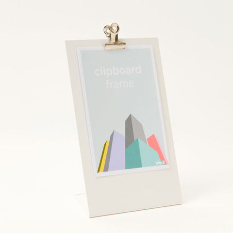Simple clipboard frame for photo and card display perfect minimalist addition to any workspace or shelf. Designed by Block in the UK.