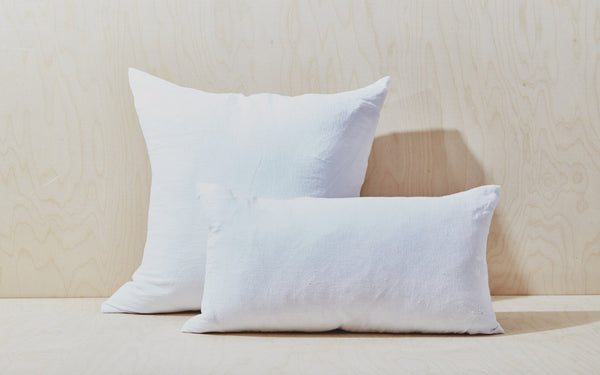 Simple Linen Pillows at Port of Raleigh