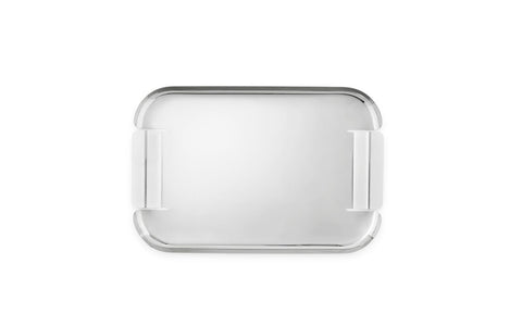 Taking simple and timeless stainless steel and transforming it, the Force Tray from Normann Copenhagen continues the tradition of the classic serving tray. Cut and formed from a single piece of steel, the organic structure with a