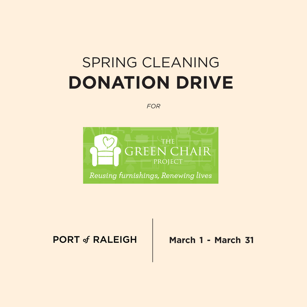Donation for The Green Chair Project at Port of Raleigh