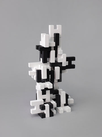 Deceptively simple yet surprisingly creative construction blocks.  Challenge yourself with architectural structures, designer compositions, sculptural expressions.