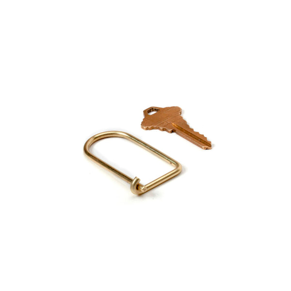Minimalist key ring in solid brass made in USA by Craighill