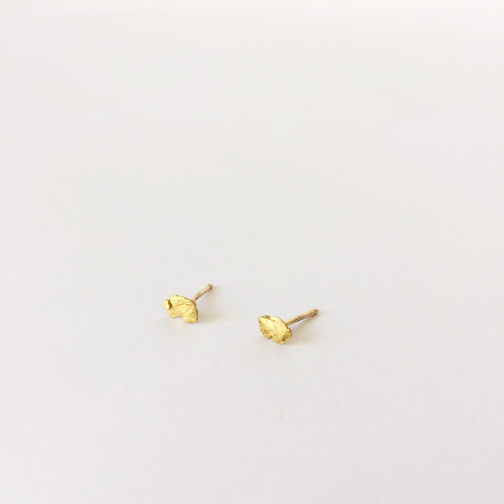 Prospect Raw Gold Earrings at Port of Raleigh