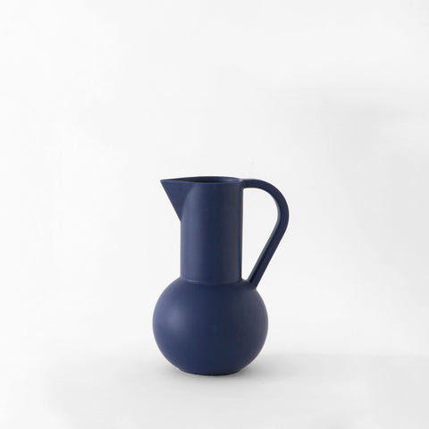 Inspired by still life paintings, the Strøm Collection Jugs from Raawii are a balance between function and form, exuding simplicity with a vivid flair. Handmade in Portugal by slip-cast technique, these striking ceramic pitchers are designed with purpose.