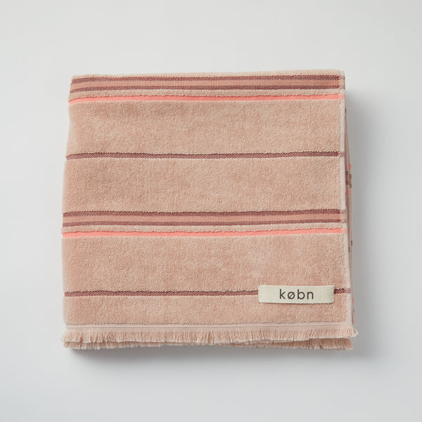Modern bath towel and beach / pool towel in turkish plain weave with terry loops on the reverse side. Designed in Australia and made in Turkey, features stripes and fresh modern colors. at Port of Raleigh