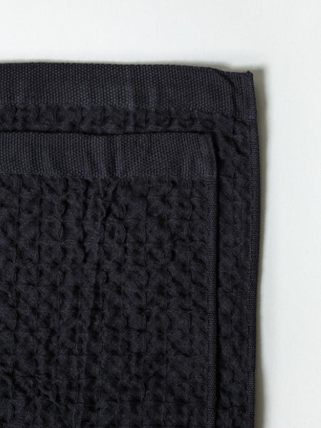 Minimalist waffle weave like washcloth made in Japan perfect as a makeup towel at Port of Raleigh
