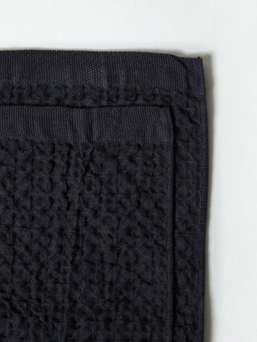 Minimalist waffle weave like washcloth made in Japan perfect as a makeup towel