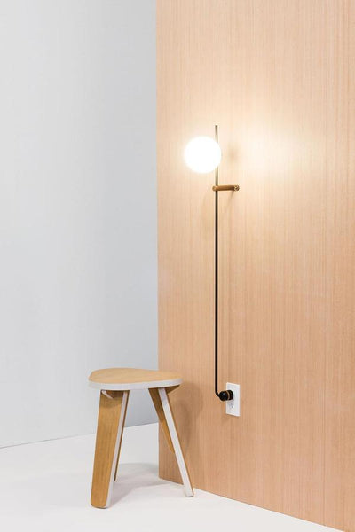 Modern and minimalist warm LED wall lamp that's architectural, seamless, space-saving, AND comes without the hassles of professional installation by Human Home at Port of Raleigh